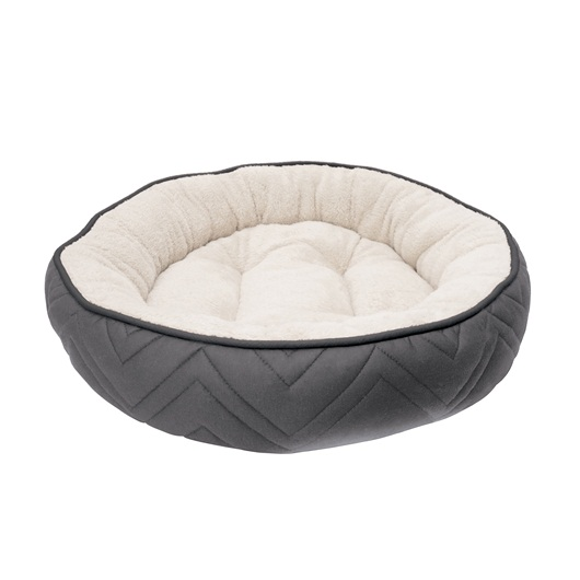 Dogit – Cama Dog Cuddle Gray White 56 cm Diámetro